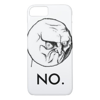 """Coque iPhone 8/7 Blanc """"NON"""" meme drôle"""