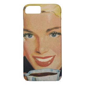 Coque iPhone 8/7 Boissons vintages, café potable de sourire de