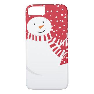 Coque iPhone 8/7 bonhomme de neige contemporain moderne d'hiver