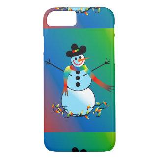 Coque iPhone 8/7 Bonhomme de neige de vacances maintenant sur le