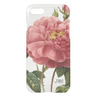 Coque iPhone 8/7 Botanique vintage de rose de rose personnalisé