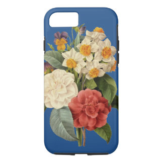 Coque iPhone 8/7 Bouquet vintage de mariage, fleurs de floraison