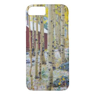 Coque iPhone 8/7 Cabine solitaire grand de MESA dans une forêt
