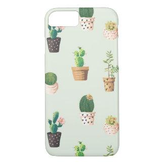 Coque iPhone 8/7 Cactus succulent mignon romantique sur l'arrière -