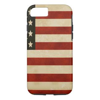 Coque iPhone 8/7 CADEAUX vintages de drapeau américain