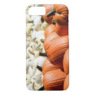 Coque iPhone 8/7 caisse blanche et orange de téléphone de