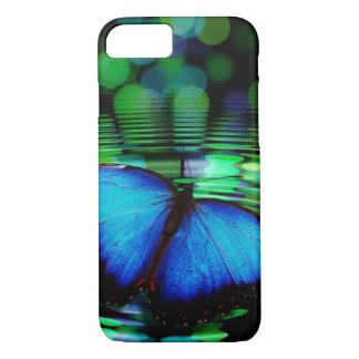 Coque iPhone 8/7 Caisse bleue de l'iPhone 7 de papillon