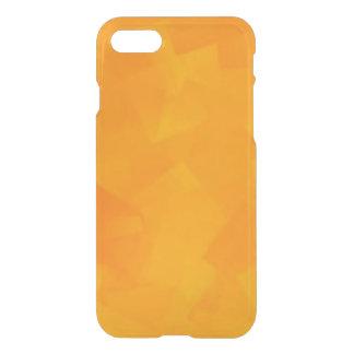 Coque iPhone 8/7 Caisse claire simple orange