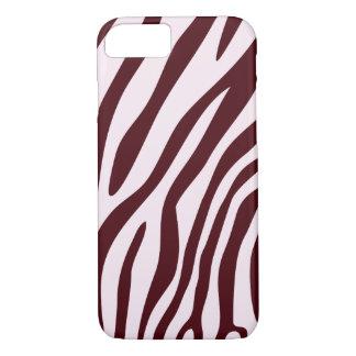 Coque iPhone 8/7 Caisse d'impression de zèbre, rouge