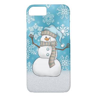 Coque iPhone 8/7 Caisse du bonhomme de neige 8/7 d'aquarelle de