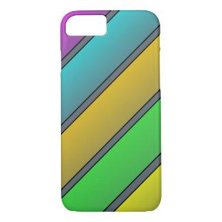 Coque iPhone 8/7 Caisse en pastel de téléphone de rayures