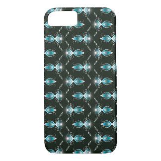 Coque iPhone 8/7 Caisse florale bleue de motif