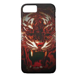 Coque iPhone 8/7 Caisse foncée de téléphone de tigre