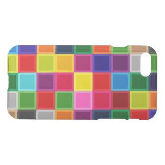 Coque iPhone 8/7 Caisse Girly colorée multi de l'iPhone 7 de carrés