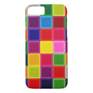 Coque iPhone 8/7 Caisse Girly colorée multi d'Iphone 7 de carrés