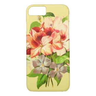 Coque iPhone 8/7 Caisse Girly jaune romantique florale de téléphone