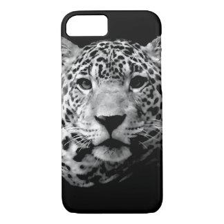 Coque iPhone 8/7 Caisse noire et blanche de l'iPhone 7 de Jaguar