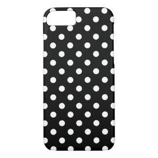 Coque iPhone 8/7 Caisse noire et blanche de l'iPhone 7 de point de