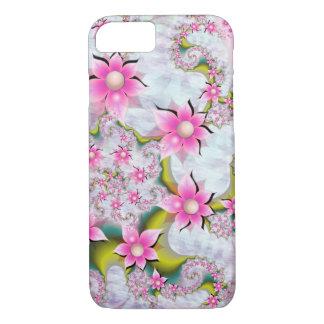 Coque iPhone 8/7 Caisse rose de fleurs