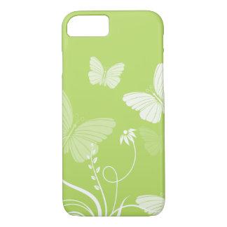 Coque iPhone 8/7 Caisse verte de l'iPhone 7 de papillons