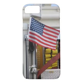 Coque iPhone 8/7 Camion de pompiers patriotique