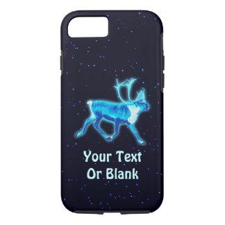 Coque iPhone 8/7 Caribou bleu (renne)