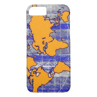 Coque iPhone 8/7 carte orange du monde