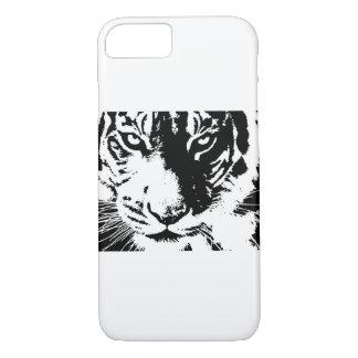 Coque iPhone 8/7 Cas avec un tigre noir et blanc d'impression