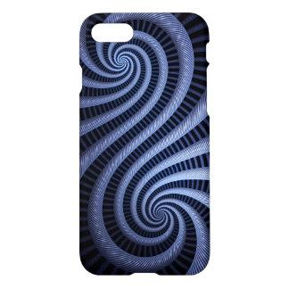 Coque iPhone 8/7 Cas bleu-foncé d'art de fractale