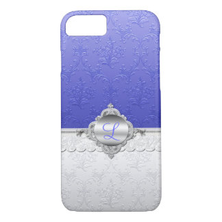 Coque iPhone 8/7 Cas chic de l'iPhone 7 de monogramme de damassé