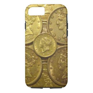 Coque iPhone 8/7 Cas classique de téléphone de pièces d'or des USA