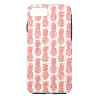 Coque iPhone 8/7 Cas de corail de téléphone d'ananas d'aquarelle