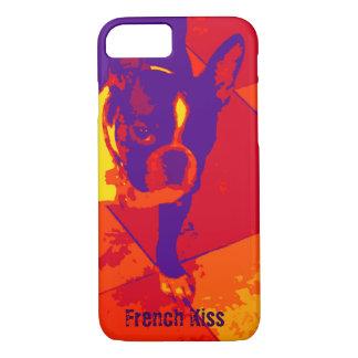 Coque iPhone 8/7 Cas de l'iphone 6 de chien de Taureau de Français