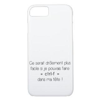 Coque iPhone 8/7 cas de l'iPhone 7 - CTRL-f (français)