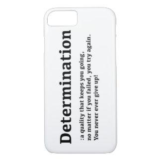 Coque iPhone 8/7 Cas de l'iPhone 7 de détermination