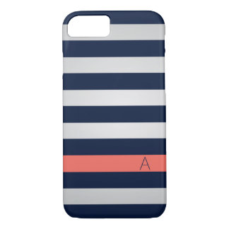 Coque iPhone 8/7 Cas de l'iPhone 7 de marine et de corail
