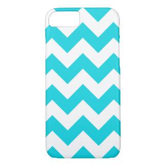 Coque iPhone 8/7 Cas de l'iPhone 7 de zigzag de Chevron d'Aqua