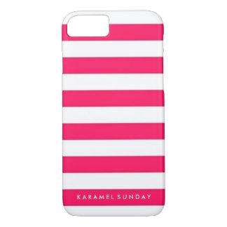 Coque iPhone 8/7 cas de l'iPhone 7 - rouge nautique/rose de