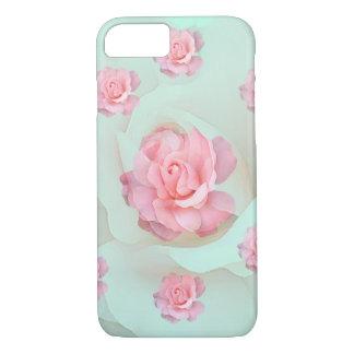 Coque iPhone 8/7 cas de téléphone avec les roses en pastel