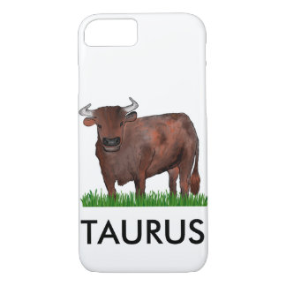 Coque iPhone 8/7 Cas de téléphone d'art de zodiaque de Taureau