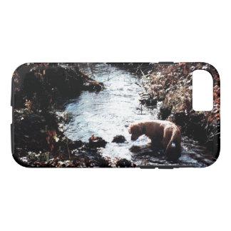Coque iPhone 8/7 Cas de téléphone de bain de l'automne du chiot