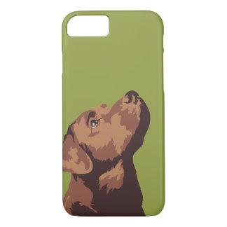 Coque iPhone 8/7 Cas de téléphone de Labrador de chocolat