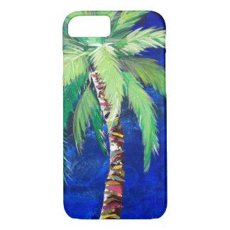 Coque iPhone 8/7 Cas de téléphone de palmier de bleu de cobalt