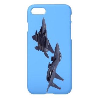 Coque iPhone 8/7 Cas de téléphone d'Eagles de grève de deux F-15E