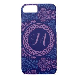 Coque iPhone 8/7 Cas décoré d'un monogramme floral celtique de