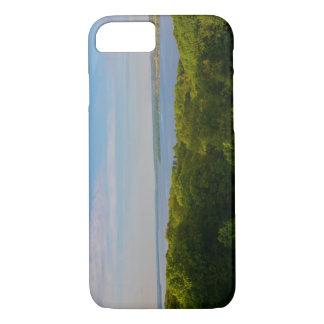 Coque iPhone 8/7 Cas d'horizon de forêt et de rivière