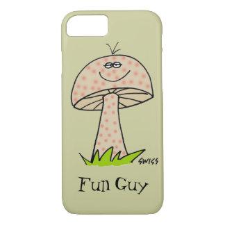 Coque iPhone 8/7 Cas drôle de téléphone de champignons de type