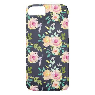 Coque iPhone 8/7 Cas floral de téléphone de pêche et de marine