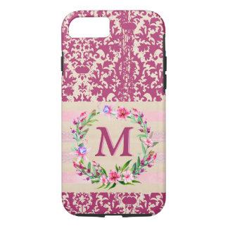 Coque iPhone 8/7 Cas floral hardiment romantique d'Iphone 7 de
