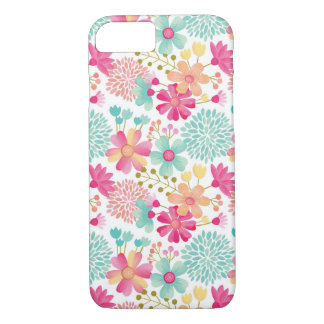 Coque iPhone 8/7 Cas floral peint de l'iPhone 7 de motif